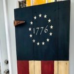 Patriotic Flag Door Finished