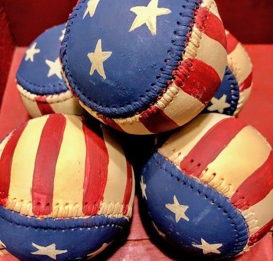 Patriotic Painted Baseballs