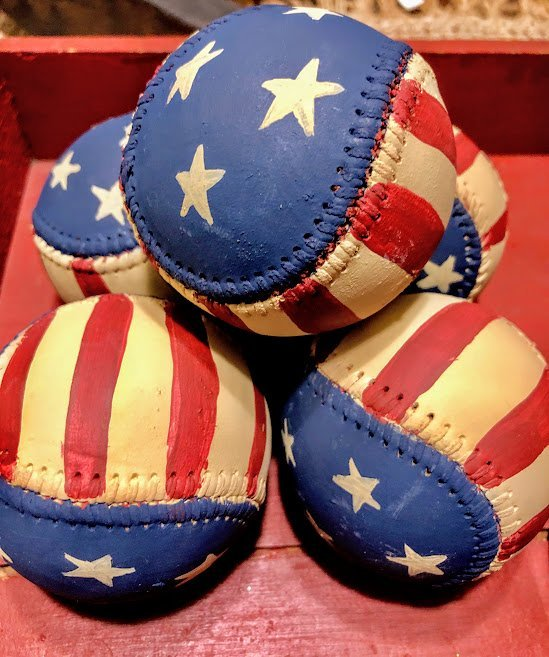 Painted-Patriotic-Baseballs