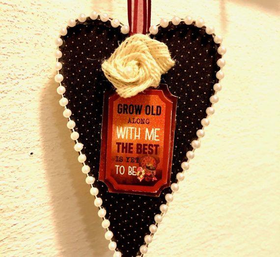 DIY Dollar Tree Heart Ornament