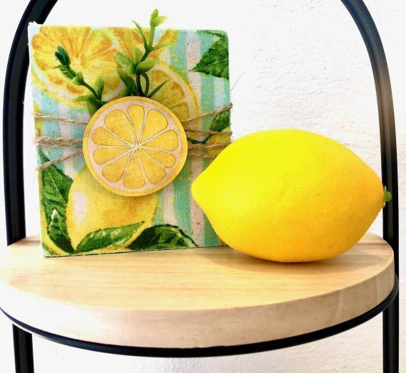 Lemon Tier Tray Sign