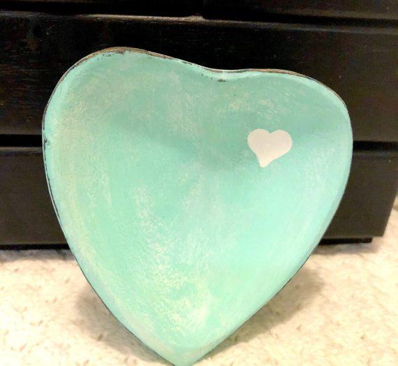 Heart Trinket Bowl Makeover