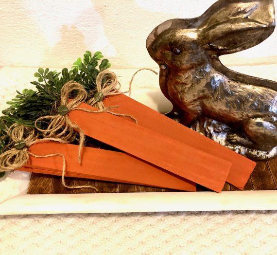 DIY Wooden Shim Carrots