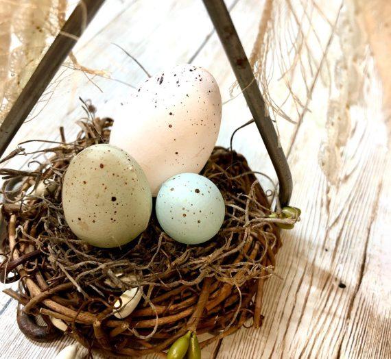 Vintage Masher Bird Nest