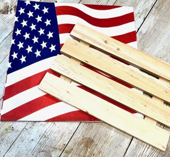 Dollar Tree Pallet Flag