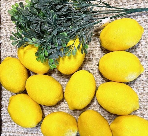 Thrifted Lemon Apothecary Jar