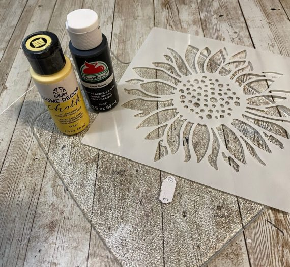 Thrifted Sunflower Cutting Board Makeover