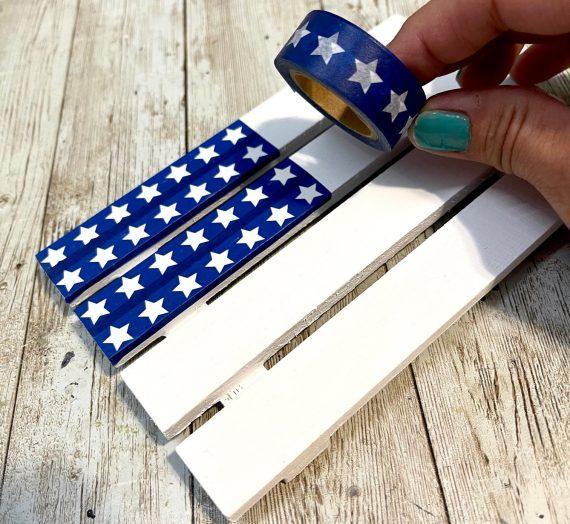 Washi Tape Pallet Flag