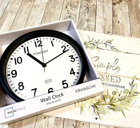 Dollar Tree Calendar Clock