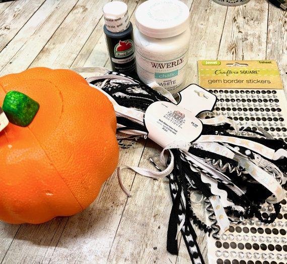 DIY Dollar Tree Glam Pumpkin