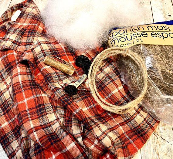 DIY Flannel Shirt Pumpkin