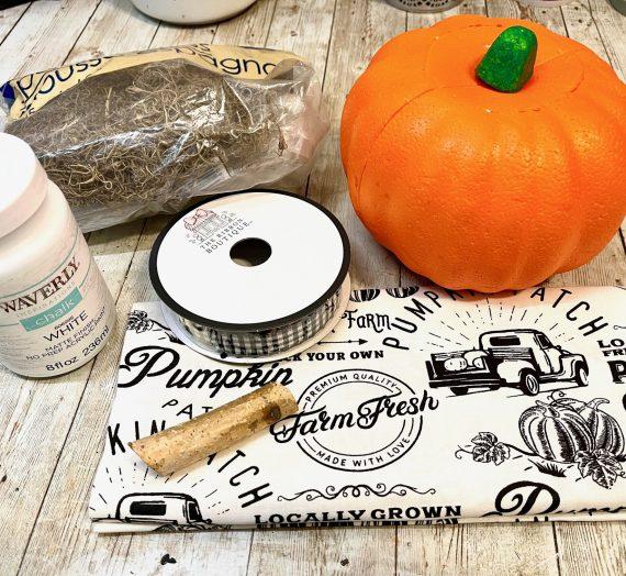Dollar Tree Farmhouse Pumpkin